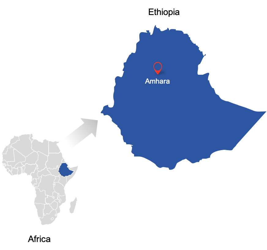 Map of Ethiopia and Africa